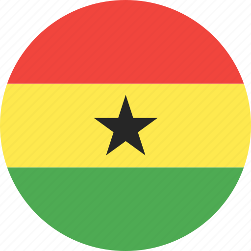 circle, country, flag, ghana, nation icon