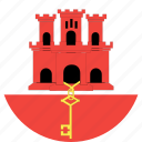 circle, country, flag, gibraltar, nation icon