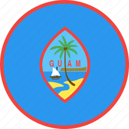 circle, country, flag, guam, nation icon