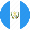 circle, country, flag, guatemala, nation icon
