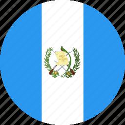 circle, country, flag, guatemala, nation icon
