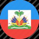 circle, country, flag, haiti, nation