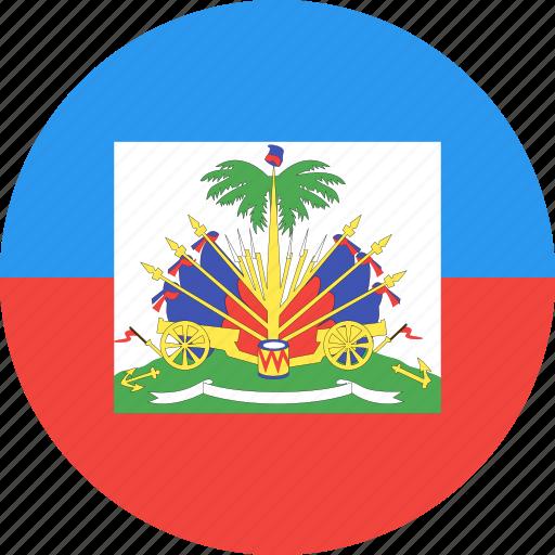 circle, country, flag, haiti, nation icon