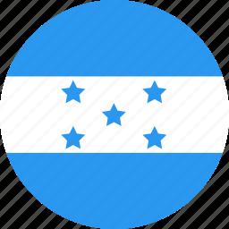 circle, country, flag, honduras, nation icon