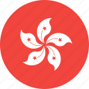 circle, country, flag, hongkong, nation icon