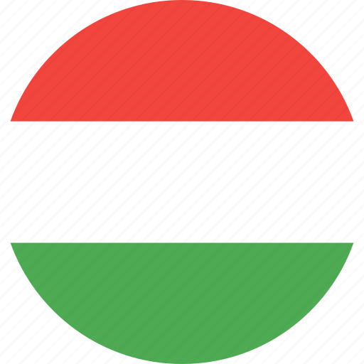 circle, country, flag, hungaria, nation icon