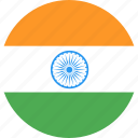 circle, country, flag, india, nation