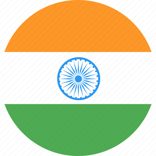 circle, country, flag, india, nation icon
