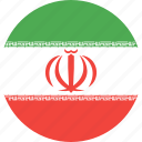circle, country, flag, iran, nation icon