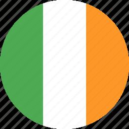 circle, country, flag, ireland, nation icon