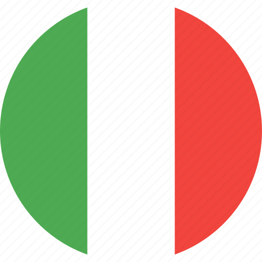 circle, country, flag, italy, nation icon