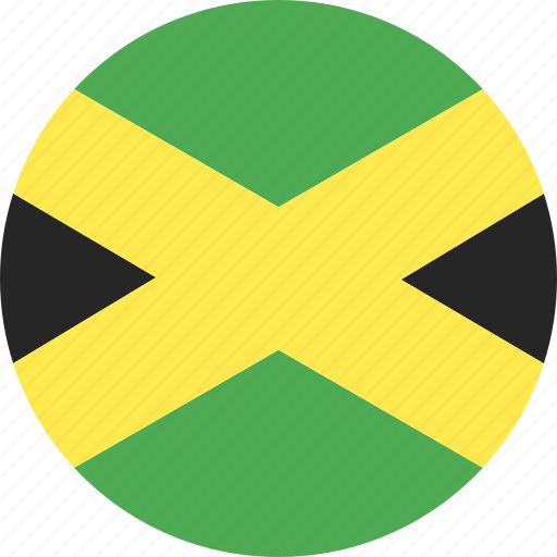 circle, country, flag, jamaica, nation icon
