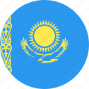circle, country, flag, kazakhstan, nation icon