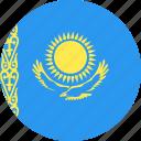 circle, country, flag, kazakhstan, nation