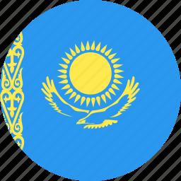 circle, country, flag, kazakhstan, nation icon