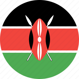 circle, country, flag, kenya, nation icon