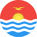 circle, country, flag, kiribati, nation icon