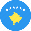 circle, country, flag, kosovo, nation icon