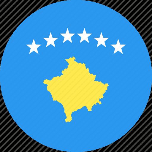 circle, country, flag, kosovo, nation icon