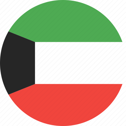 circle, country, flag, kuwait, nation icon