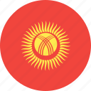 circle, country, flag, kyrgystan, nation icon