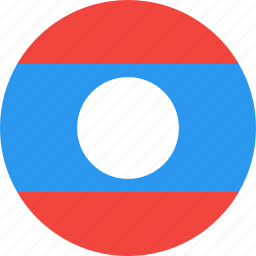 circle, country, flag, laos, nation icon