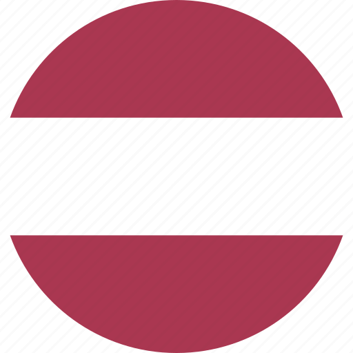 circle, country, flag, latvia, nation icon
