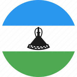 circle, country, flag, lesotho, nation icon