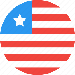 circle, country, flag, liberia, nation icon