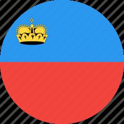 circle, country, flag, liechtenstein, nation icon
