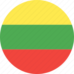 circle, country, flag, lithuania, nation icon