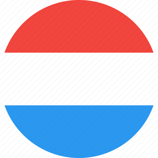 circle, country, flag, luxembourg, nation icon