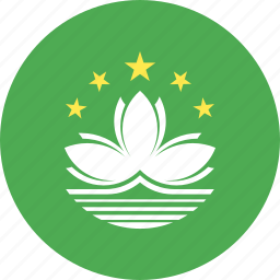 circle, country, flag, macau, nation icon