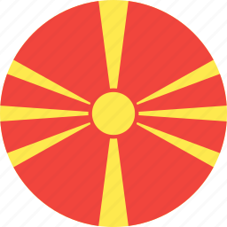 circle, country, flag, macedonia, nation icon