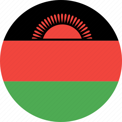 circle, country, flag, malawi, nation icon