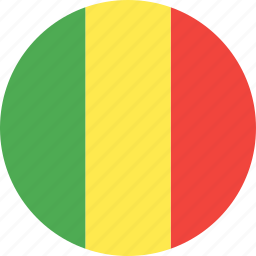 circle, country, flag, mali, nation icon