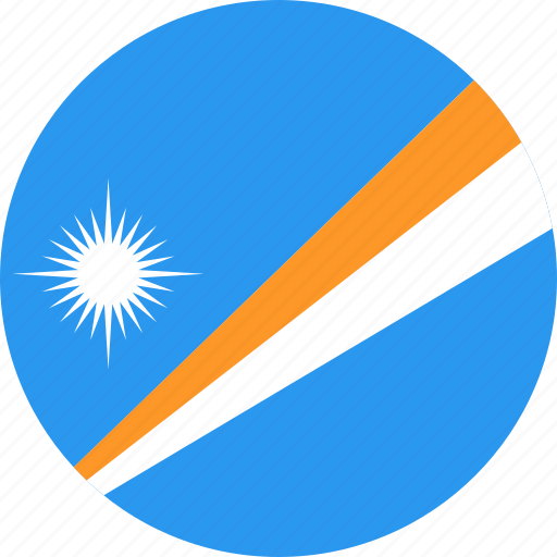 circle, country, flag, islands, marshall, nation icon