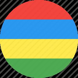 circle, country, flag, mauritius, nation icon