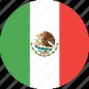 circle, country, flag, mexico, nation icon