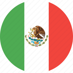 circle, country, flag, mexico, nation icon