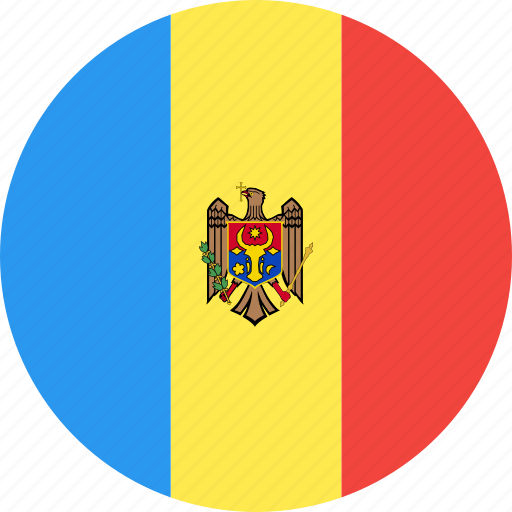 circle, country, flag, moldova, nation icon