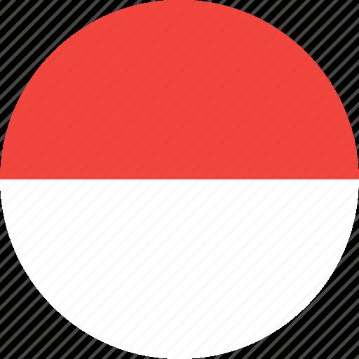 circle, country, flag, monaco, nation icon