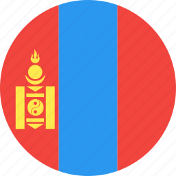 circle, country, flag, mongolia, nation icon