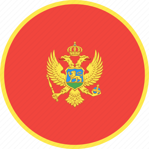 circle, country, flag, montenegro, nation icon