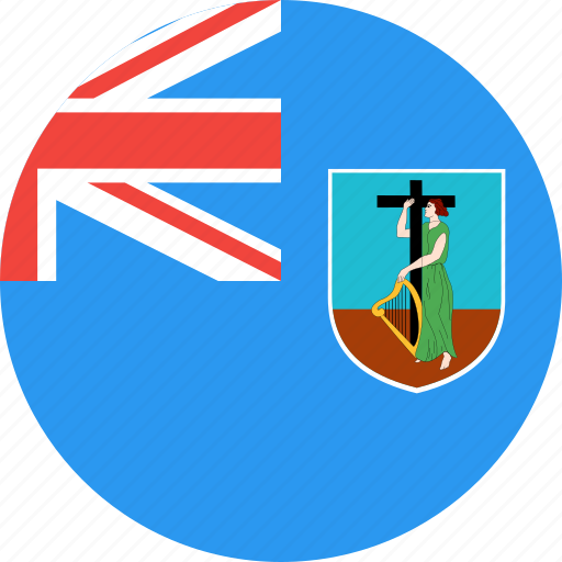 circle, country, flag, montserrat, nation icon