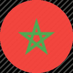 circle, country, flag, morocco, nation icon