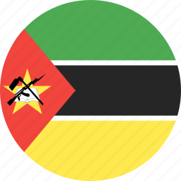 circle, country, flag, mozambique, nation icon