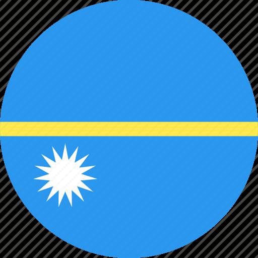 circle, country, flag, nation, nauru icon