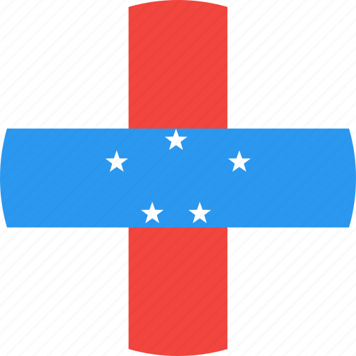 antilles, circle, country, flag, nation, netherlands icon