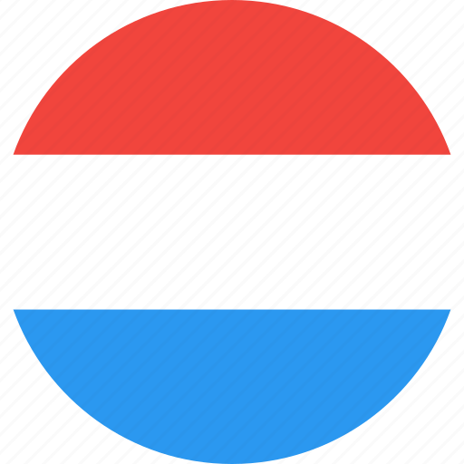 circle, country, flag, nation, netherlands icon